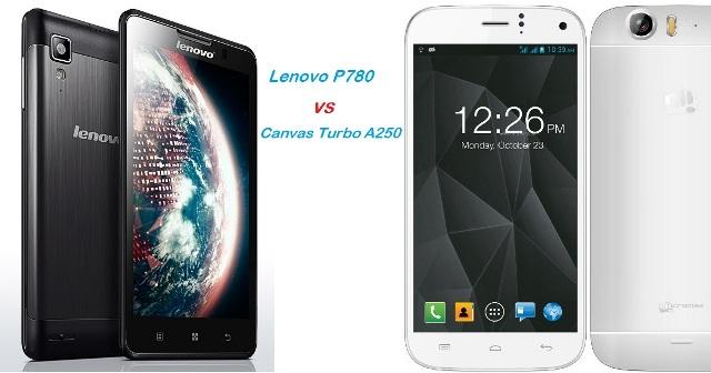 Canvas Turbo VS Lenovo P780