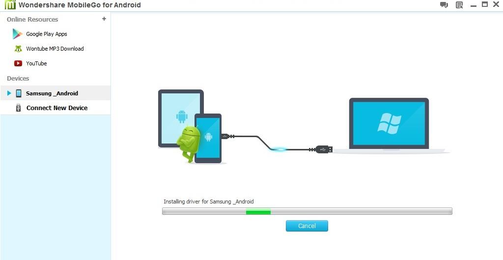Wondershare MobileGo Driver Installation