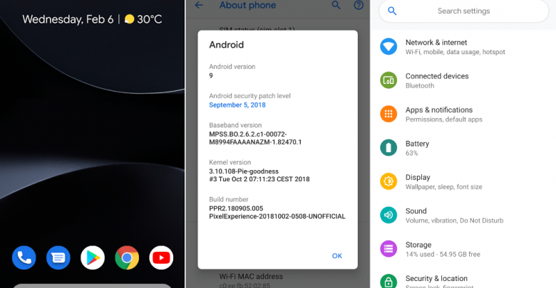 Android 9 Pie on OnePlus 2