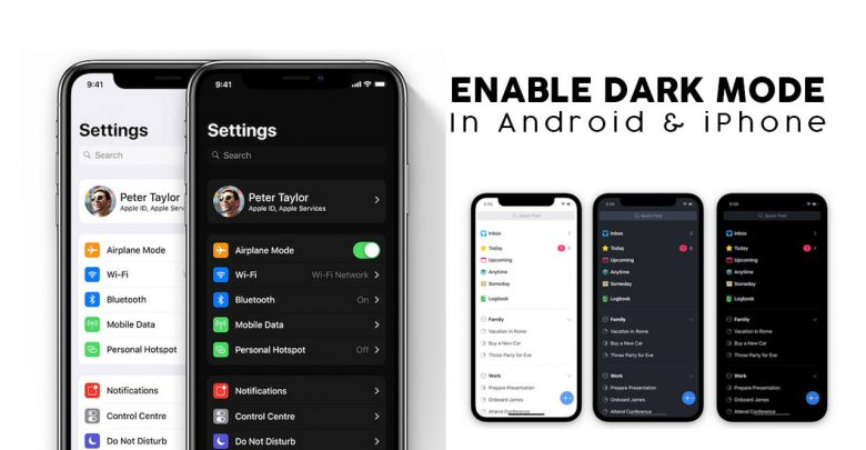Dark Mode in Android and iPhone