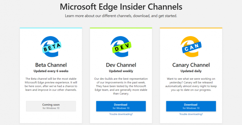 Download Chromium Based Microsoft Edge Browser