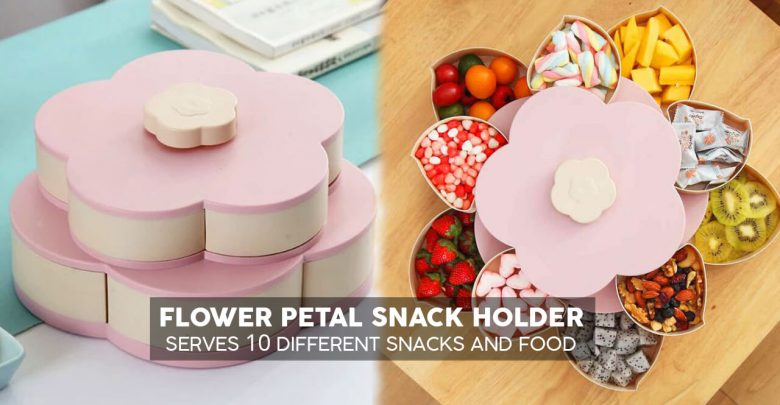 Photo of Flower Petal Snack Holder – Serves 10 Different Snacks And Food