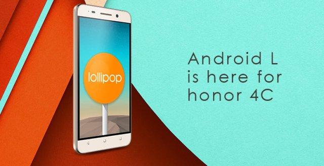 Honor 4c Lollipop Update