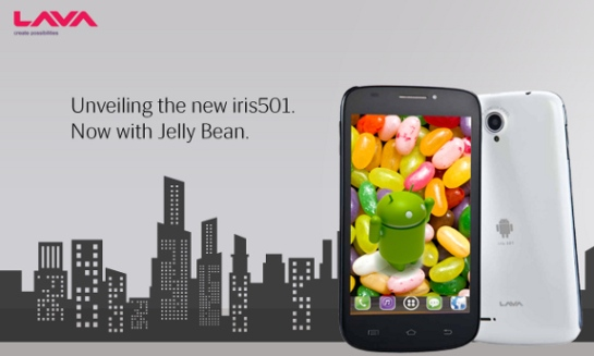 Lava Iris 501 Jelly Bean