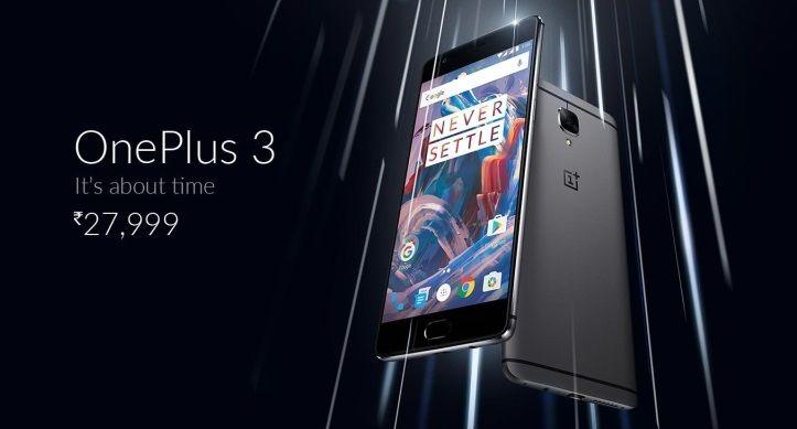 OnePlus 3 India
