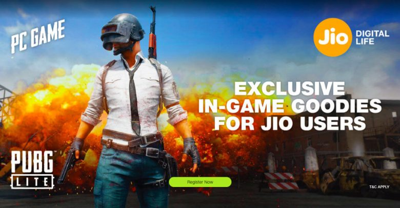 PUBG Lite and Jio Offer and registeration