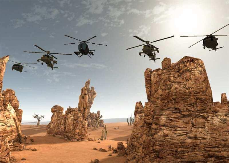 Stealth Helicopter Fighter Modern War