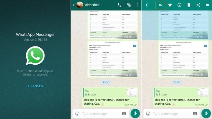 WhatsApp APK with 'Message Quoting'