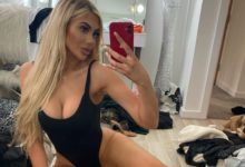 Photo of Chloe Ferry: Eating a Cupcake in Lingerie