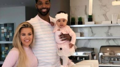 Photo of Khloe Kardashian and Tristan Thompson Reuniting for Their Daughter's Birthday
